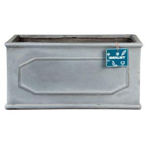 Window Box Faux Lead Chelsea Trough Light Stone Planter W22 H22 L60 cm