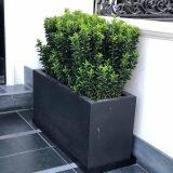 Contemporary Faux Lead Light Concrete Trough Planter H37.5 L80 W37 cm