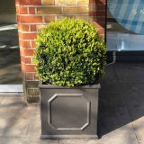Faux Lead Chelsea Box Square Grey Light Stone Planter W45 H45 L45 cm