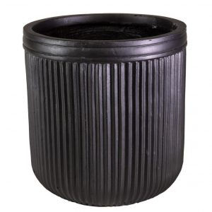 Vertical Ribbed Vintage Style Faux Lead Round H50 L50 W50 cm Planter
