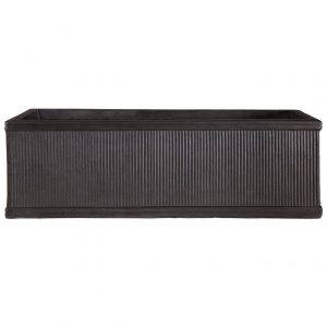 Vertical Ribbed Vintage Style Faux Lead Trough H30 L80 W30 cm Planter