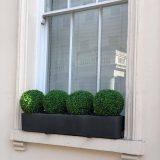 Window Box Light Concrete Dark Grey Planter L80 W17 H17.5 cm by Idealist Lite