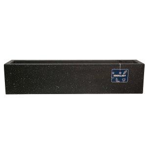 Window Box Light Concrete Black Terazzo Planter L80 W17 H17.5 cm by Idealist Lite