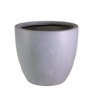 Contemporary Stone Grey Light Concrete Egg D35 H32 cm Planter