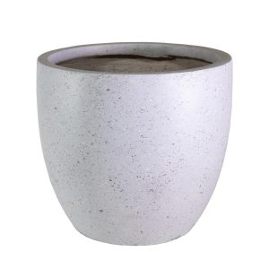 Contemporary Grey Marble Light Concrete Egg D35 H32 cm Planter