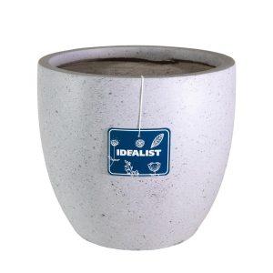 Contemporary Grey Marble Light Concrete Egg D46 H45 cm Planter