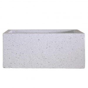 Window Box Light Concrete Grey Marble Planter L80 W17 H17.5 cm by Idealist Lite