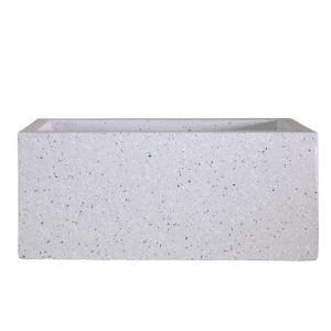 Window Box Light Concrete Grey Marble Planter L40 W17 H17.5 cm by Idealist Lite
