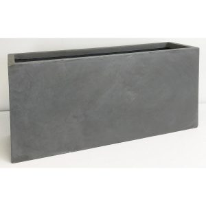 Contemporary Light Concrete Grey Trough Planter H51.5 L100 W36 cm