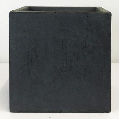 Square Box Contemporary Faux Lead Light Concrete Planter H40 L40 W40 cm