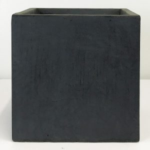 Square Box Contemporary Faux Lead Light Concrete Planter H25 L25 W25 cm