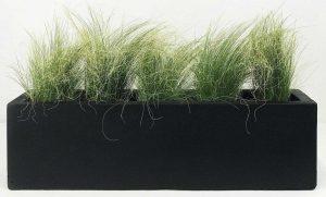 Window Box Light Concrete Black Planter L80 W17 H17.5 cm by Idealist Lite