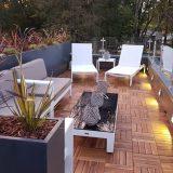 Raised Narrow Contemporary Light Concrete Faux Lead Trough Planter H92.5 L80.5 W30.5 cm
