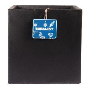 Square Box Contemporary Black Light Concrete Planter H30 L30 W30 cm