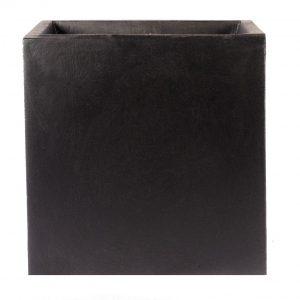 Square Box Contemporary Black Light Concrete Planter H40 L40 W40 cm