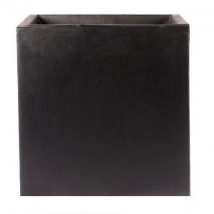 Square Box Contemporary Black Light Concrete Planter H25 L25 W25 cm