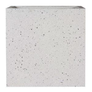 Square Box Contemporary Grey Marble Light Concrete Planter H40 L40 W40 cm