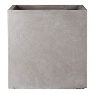Square Box Contemporary Grey Light Concrete Planter H40 L40 W40 cm