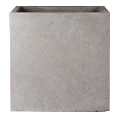Square Box Contemporary Grey Light Concrete Planter H40 L40 W40 cm