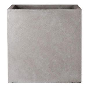 Square Box Contemporary Grey Light Concrete Planter H25 L25 W25 cm