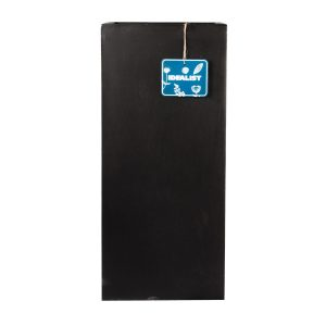 Tall Square Contemporary Black Light Concrete Planter H60 L27 W27 cm