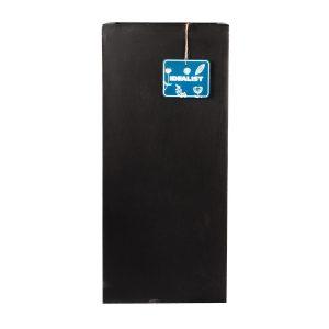Tall Square Contemporary Black Light Concrete Planter H50 L21 W21 cm