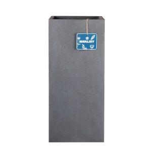 Tall Square Contemporary Faux Lead Light Concrete Planter H50 L21 W21 cm