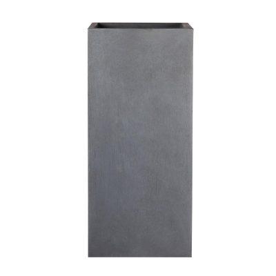 Tall Square Contemporary Faux Lead Light Concrete Planter H60 L27 W27 cm