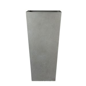 Tall Tapered Contemporary Grey Light Concrete Planter H89 L43 W43 cm