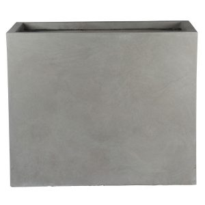Raised Narrow Contemporary Light Concrete Grey Trough Planter H50.5 L60 W30 cm