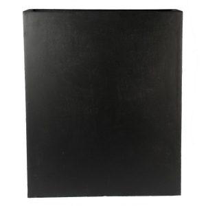 Raised Narrow Contemporary Light Concrete Black Trough Planter H92.5 L80.5 W30.5 cm