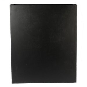 Raised Narrow Contemporary Light Concrete Black Trough Planter H72 L60.5 W22.5 cm