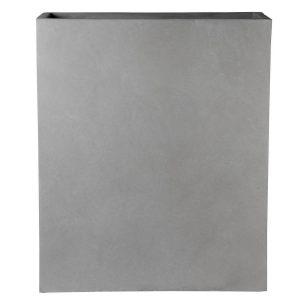 Raised Narrow Contemporary Grey Light Concrete Trough Planter H92.5 L80.5 W30.5 cm