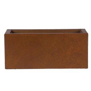 Window Box Light Concrete Rusty Color Planter L40 W17 H17.5 cm by Idealist Lite