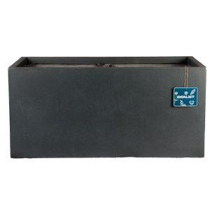 Contemporary Faux Lead Concrete Trough Planter H30 L60 W30 cm