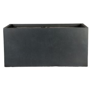 Contemporary Faux Lead Light Concrete Trough Planter H20.5 L50 W20 cm