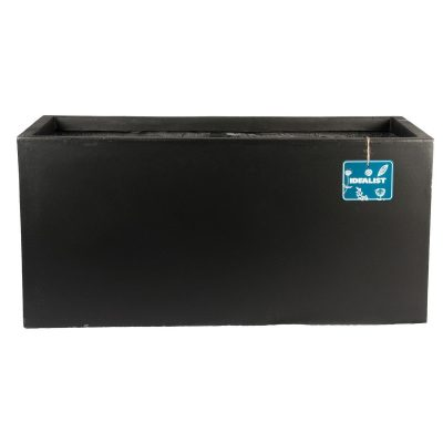 Contemporary Black Light Concrete Trough Planter H37.5 L80 W37 cm