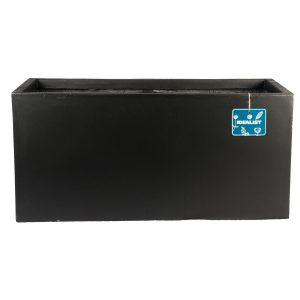 Contemporary Black Concrete Trough Planter H30 L60 W30 cm