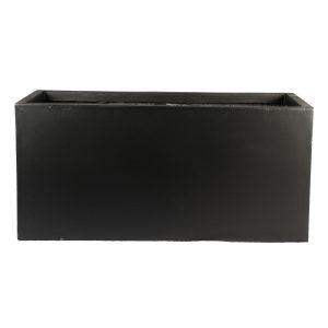 Contemporary Black Light Concrete Trough Planter H47 L100 W47 cm