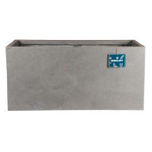 Contemporary Grey Light Concrete Trough Planter H30 L60 W30 cm