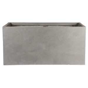Contemporary Grey Light Concrete Trough Planter H30 L60 W30 cm