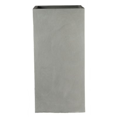 Tall Square Contemporary Grey Light Concrete Planter H60 L27 W27 cm
