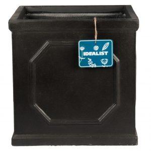 Faux Lead Chelsea Box Square Dark Grey Light Stone Planter W45 H45 L45 cm
