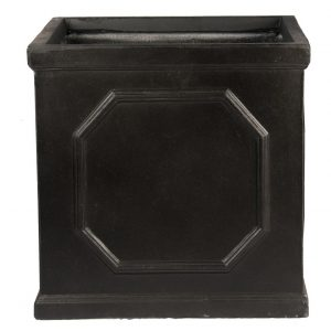 Faux Lead Chelsea Box Square Dark Grey Light Stone Planter W55 H55 L55 cm