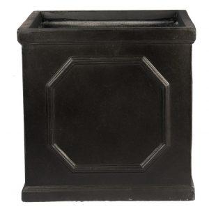 Faux Lead Chelsea Box Square Dark Grey Light Stone Planter W65 H65 L65 cm
