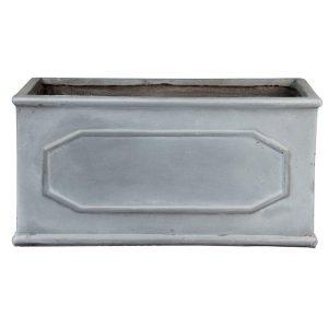 Window Box Faux Lead Chelsea Trough Light Stone Planter W17 H17 L40 cm