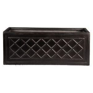 Window Box Dark Grey Light Stone Planter W22 H22 L60 cm