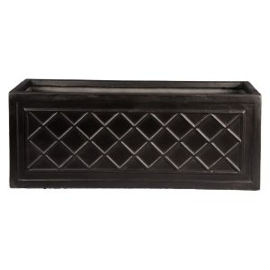 Window Box Dark Grey Light Stone Planter W17 H17 L50 cm