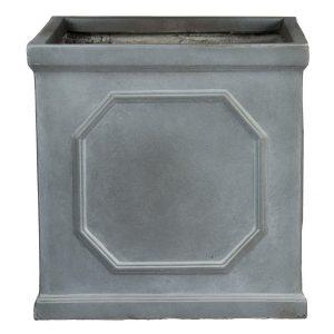 Faux Lead Chelsea Box Square Grey Light Stone Planter W65 H65 L65 cm