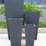 Tall Tapered Contemporary Faux Lead Light Concrete Planter H38.5 L18.5 W18.5 cm